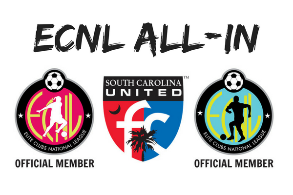 SCUFC is ECNL ALL-IN Fall 2018